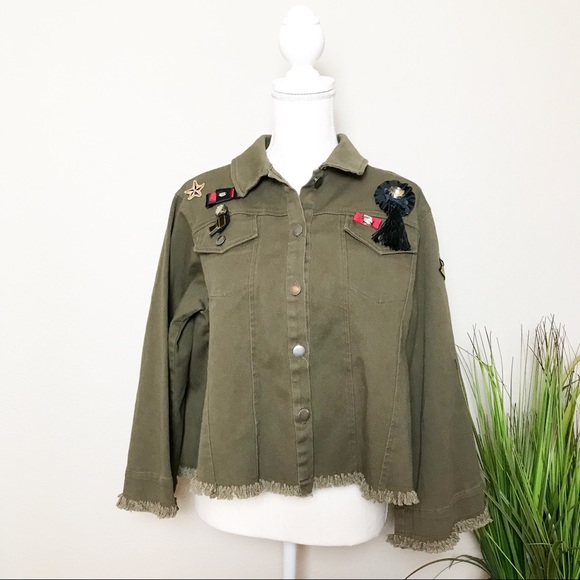 Anthropologie Jackets & Blazers - Guest Editor Military Inspired  Raw-Hem Jacket